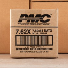 7.62x51 NATO PMC X-TAC 147 GRAIN FMJ-BT (500 ROUNDS)