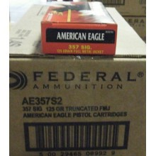 357 SIG FEDERAL AMERICAN EAGLE 125 GRAIN FMJ (50 ROUNDS)