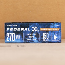 Image of 270 Winchester ammo by Federal that's ideal for whitetail hunting.
