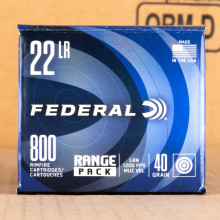Image of 22 LR FEDERAL CHAMPION 40 GRAIN LRN (800 ROUNDS)