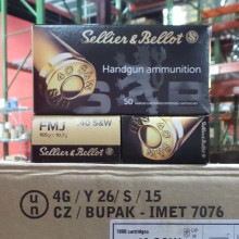 40 S&W SELLIER & BELLOT 165 GRAIN FMJ (1000 ROUNDS)