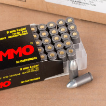 A photo of a box of Tula Cartridge Works ammo in 9mm Luger.