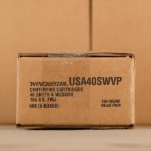 .40 S&W WINCHESTER 165 GRAIN FMJ (100 ROUNDS)