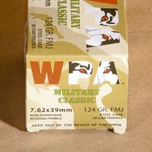 7.62X39 WOLF MILITARY 124 GRAIN FMJ (20 ROUNDS)
