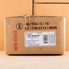 Image of 357 Magnum ammo by Sellier & Bellot that's ideal for training at the range.