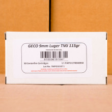Photo of 9mm Luger TMJ ammo by GECO for sale at AmmoMan.com.