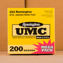 Photo of 223 Remington JHP ammo by Remington for sale.