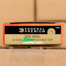 Image of 308 FEDERAL MATCH 168 GRAIN HP SIERRA MATCHKING (200 ROUNDS)