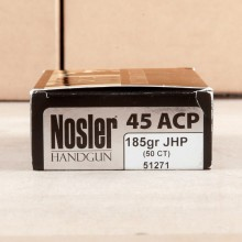 Image of Nosler Ammunition .45 Automatic pistol ammunition.