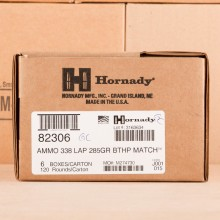 An image of 338 Lapua Magnum ammo made by Hornady at AmmoMan.com.