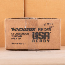 A photo of a box of Winchester ammo in 6.5MM CREEDMOOR.