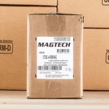 Image of 44 Remington Magnum ammo by Magtech that's ideal for training at the range.