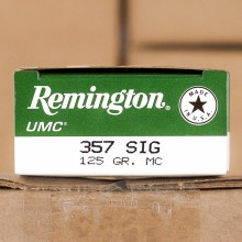 357 SIG REMINGTON UMC 125 GRAIN MC (50 ROUNDS)