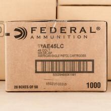 Image of Federal .45 COLT pistol ammunition.