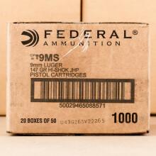Photograph showing detail of 9MM FEDERAL 147 GRAIN HI-SHOK JHP (1000 ROUNDS)