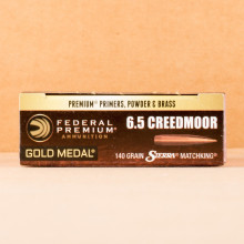 Photo of 6.5MM CREEDMOOR Hollow-Point Boat Tail (HP-BT) ammo by Federal for sale.