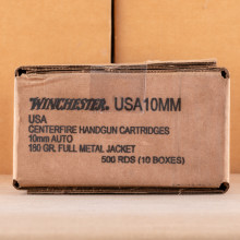 A photo of a box of Winchester ammo in 10mm.