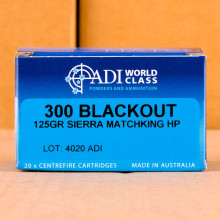 Photo of 300 AAC Blackout HP ammo by Australian Defense Industries for sale.