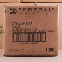 A photo of a box of Federal ammo in .40 Smith & Wesson.
