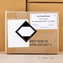 An image of 6.5 x 55 Swedish ammo made by Prvi Partizan at AmmoMan.com.