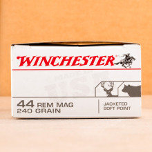 Image of Winchester 44 Remington Magnum pistol ammunition.