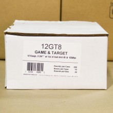 "12 GAUGE FIOCCHI GAME AND TARGET 2-3/4"" #8 SHOT (250 SHELLS)"