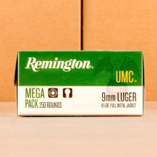 Image of the 9MM LUGER REMINGTON UMC 115 GRAIN MC (1000 ROUNDS) available at AmmoMan.com.