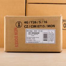 Image of Sellier & Bellot 357 Magnum pistol ammunition.