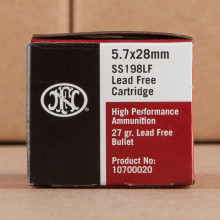 Photo of 5.7 x 28 JHP ammo by FN Herstal for sale.