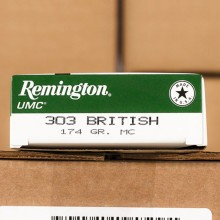 An image of 303 British ammo made by Remington at AmmoMan.com.