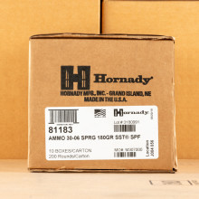 Photo of 30.06 Springfield SST ammo by Hornady for sale.