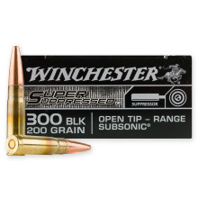 Image of Winchester 300 AAC Blackout rifle ammunition.