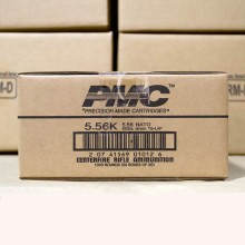 Photo detailing the 5.56x45MM PMC X-TAC GREEN TIP M855 NATO 62 GRAIN FULL METAL JACKET (1000 ROUNDS) for sale at AmmoMan.com.