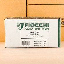 Image of Fiocchi 223 Remington rifle ammunition.