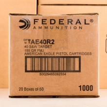 Photo of .40 Smith & Wesson FMJ ammo by Federal for sale at AmmoMan.com.