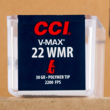 rounds of .22 WMR ammo with V-MAX bullets made by CCI.