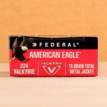Image of Federal .224 Valkyrie rifle ammunition.