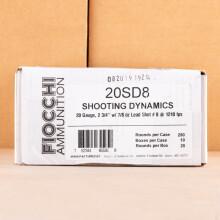 Photograph of Fiocchi 20 Gauge #8 shot for sale at AmmoMan.com