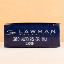 Image of the .380 ACP Speer Lawman 95 GRAIN - FMJ #53608 (1000 ROUNDS) available at AmmoMan.com.