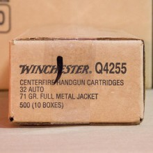 Image of .32 ACP ammo by Winchester that's ideal for training at the range.