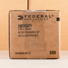 Photo of 5.56x45mm frangible ammo by Federal for sale.