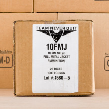 Image of 10mm ammo by Team Never Quit that's ideal for training at the range.