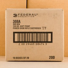 Image of Federal 308 / 7.62x51 rifle ammunition.