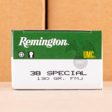 Image of Remington 38 Special pistol ammunition.