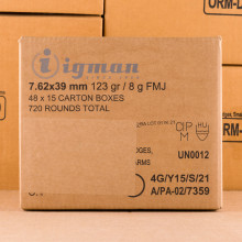 Image of 7.62X39 IGMAN 123 GRAIN FMJ (720 ROUNDS)