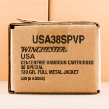 Image of 38 Special ammo by Winchester that's ideal for precision shooting, shooting indoors, training at the range.