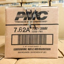 7.62X39 PMC BRONZE 123 GRAIN FMJ (500 ROUNDS)