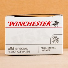 Image of 38 Special ammo by Winchester that's ideal for training at the range.