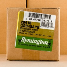 Image of .45 Automatic ammo by Remington that's ideal for home protection.