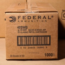 .40 S&W FEDERAL HI SHOK 155 GRAIN JHP (1000 ROUNDS)